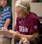 Amanda Scarborough Coaching Softball Texas A&M