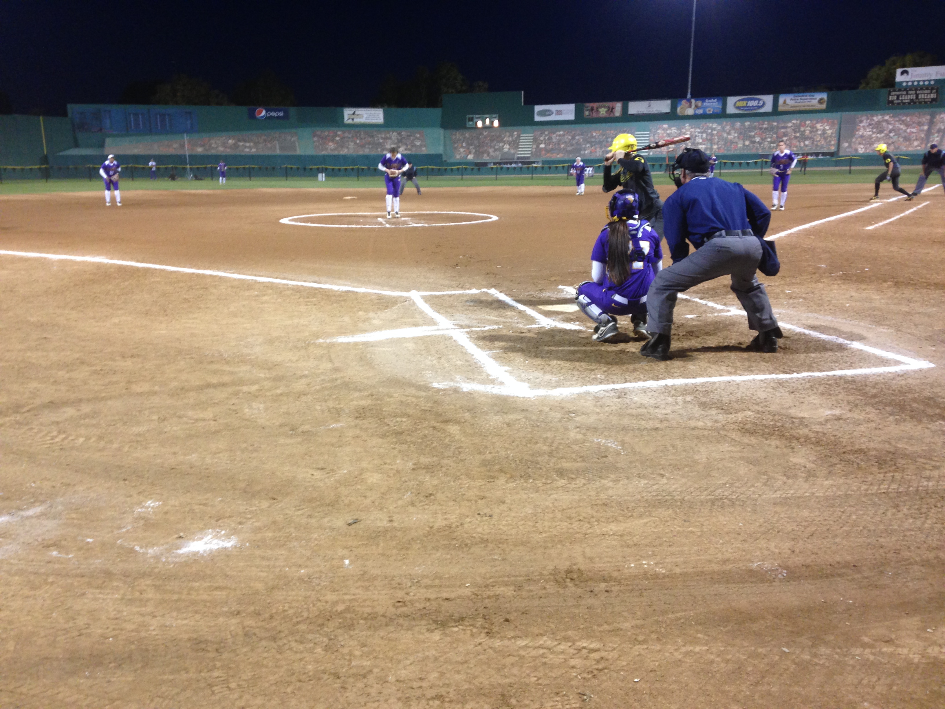 LSU vs Oregon softball