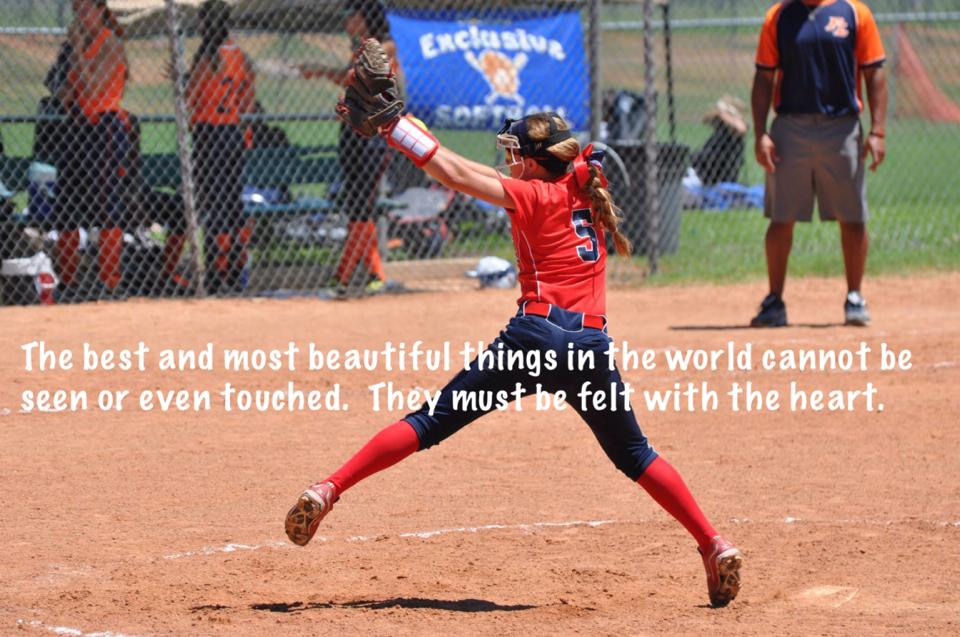 Intimidating softball quotes catcher