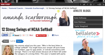 12 Strong Bats in NCAA Softball