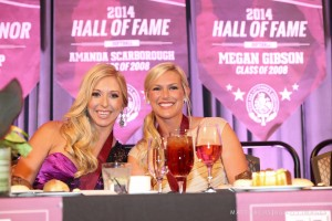 Amanda Scarborough and Megan Gibson Texas A&M HOF